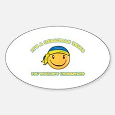 Ukrainian Smiley Designs Sticker (Oval)