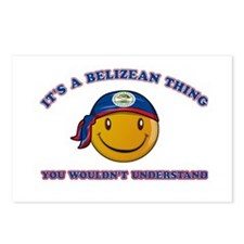 Belizean Smiley Designs Postcards (Package of 8)