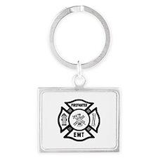 Firefighter EMT Landscape Keychain