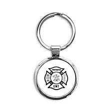 Firefighter EMT Round Keychain