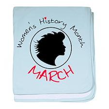 Women's History Month baby blanket