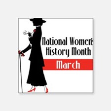"Women's History Square Sticker 3"" x 3"""