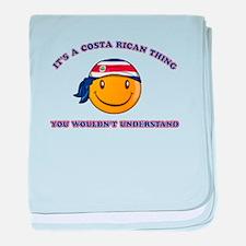 Costa Rican Smiley Designs baby blanket