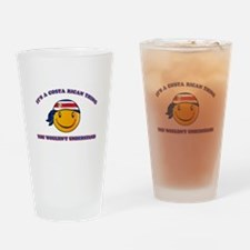 Costa Rican Smiley Designs Drinking Glass