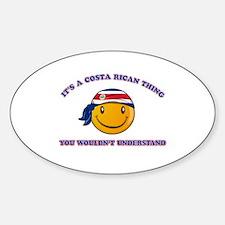 Costa Rican Smiley Designs Sticker (Oval)