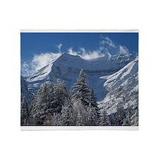 Beautiful Mountain Scene Throw Blanket