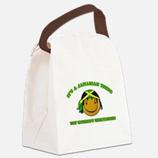 Jamaican Smiley Designs Canvas Lunch Bag