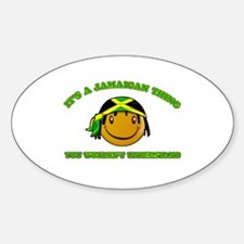 Jamaican Smiley Designs Sticker (Oval)