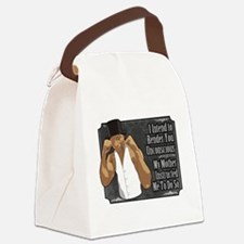 Knock Out Canvas Lunch Bag