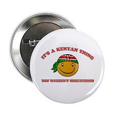 "Kenyan Smiley Designs 2.25"" Button (10 pack)"