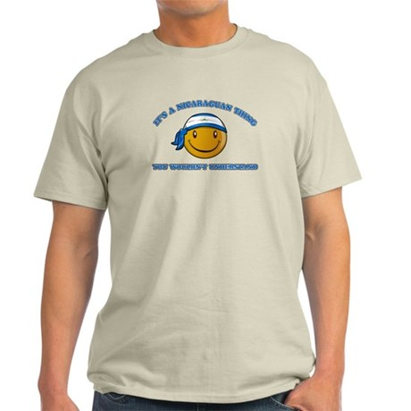 Nicaraguan Smiley Designs Light T-Shirt