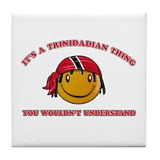 Trinidadian Smiley Designs Tile Coaster