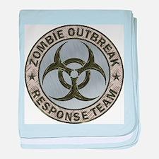Zombie Response Team Color baby blanket