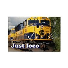 Just loco: Alaska locomotive Rectangle Magnet