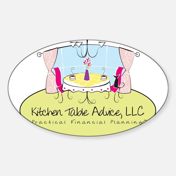 Kitchen Table Advice Large Lo Oval Decal