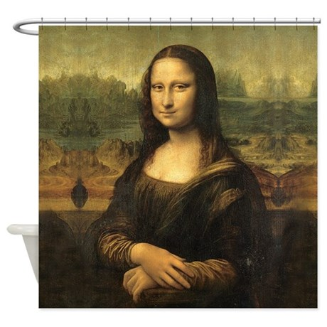 mona lisa shower curtain by artandornament
