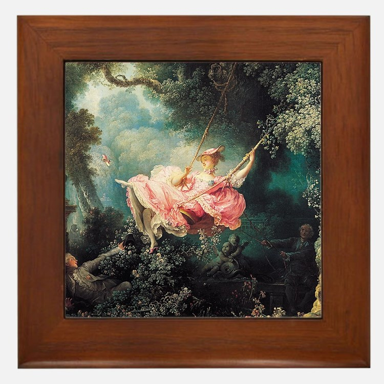 Fragonard The Swing Framed Tile