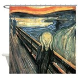 The scream Shower Curtains