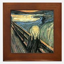 The Scream Framed Tile