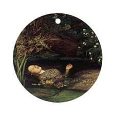 Millais Ophelia Ornament (Round)