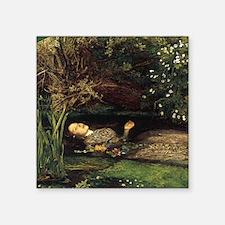 """Millais Ophelia Square Sticker 3"""" x 3"""""""
