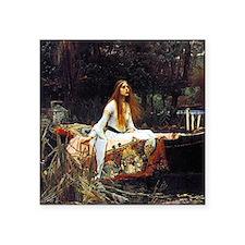 "The Lady Of Shalott Square Sticker 3"" x 3"""