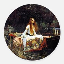 The Lady Of Shalott Round Car Magnet