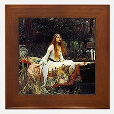 The Lady Of Shalott Framed Tile