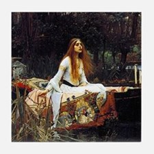 The Lady Of Shalott Tile Coaster