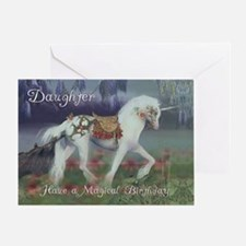 Daughter Birthday Card with Unicorn, Fantasy Birth