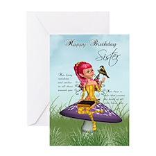 Sister Fairy Birthday Greeting Card