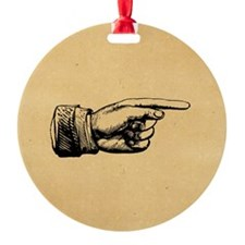 Old Fashioned Pointing Finger Ornament