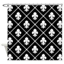 fleur-de-lis-pattern_b.png Shower Curtain