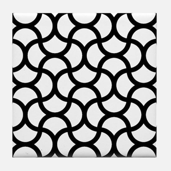 wavy-scale_line_black_9x9.png Tile Coaster