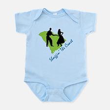 Shaggin The Coast Infant Bodysuit