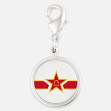 PLAAF roundel Silver Round Charm