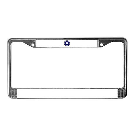 Blue License Plate Frame