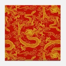 dragon-pattern_red-yellow_9x9.png Tile Coaster