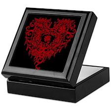 Ornate Red Gothic Heart Keepsake Box