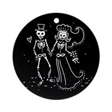 Skeleton Bride And Groom Ornament (Round)