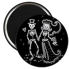 Skeleton Bride And Groom Magnet