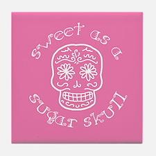 Sweet As A Sugar Skull Pink Tile Coaster