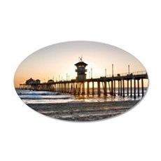 HDR Huntington Beach Pier at Sunset Wall Decal