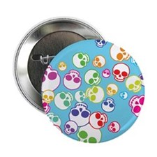 "Jumble Of Sugar Skulls 2.25"" Button"