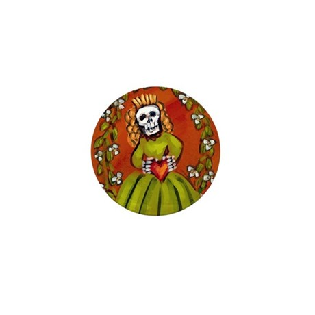 Muerta Skeleton Lady Mini Button