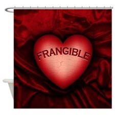 Frangible Heart Shower Curtain
