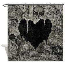 Bleak Heart Shower Curtain