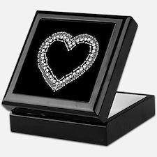 Pretty Skull Heart Keepsake Box