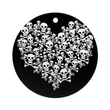 Skull Heart Ornament (Round)