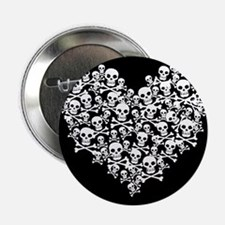 "Skull Heart 2.25"" Button"
